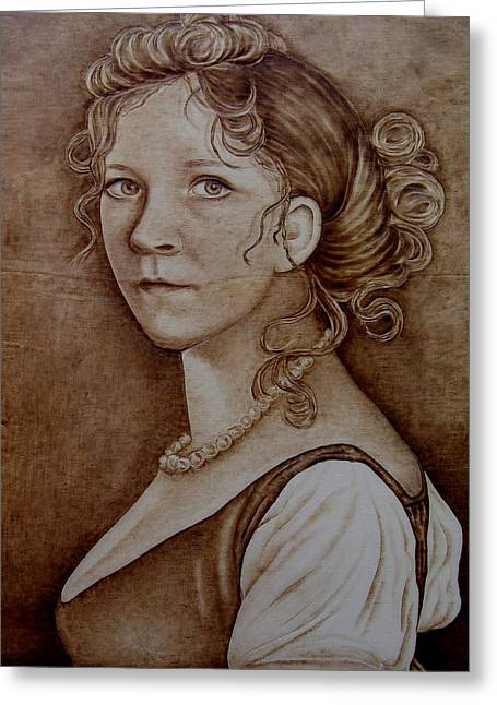 Queen Pyrography Greeting Cards - Queen of Prussia Greeting Card by Jo Schwartz