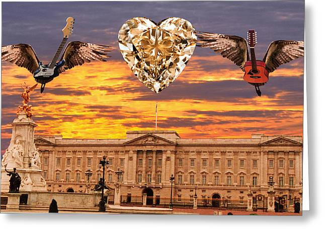 Buckingham Palace Digital Greeting Cards - Queen Rocks Greeting Card by Eric Kempson