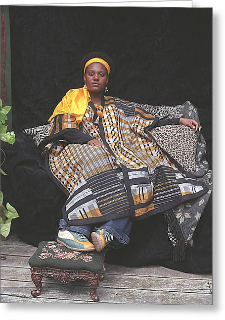 African-american Photographs Greeting Cards - QueenJess Greeting Card by Fern Logan