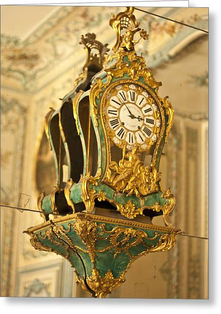 Ostentatious Greeting Cards - Queens Clock Greeting Card by Nomad Art And  Design