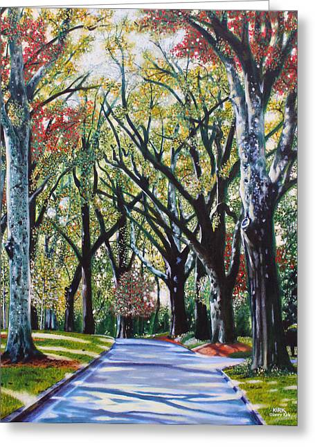 Charlotte Paintings Greeting Cards - Queens Road West Greeting Card by Jerry Kirk