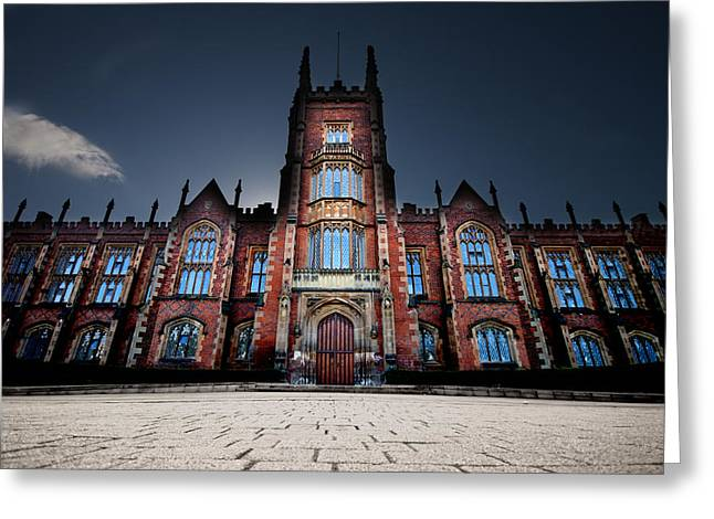 Master Potter Greeting Cards - Queens University Belfast Greeting Card by Christopher Kulfan