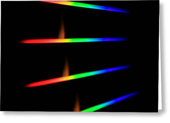 Quicklime Spectra Limelight Greeting Card by Ted Kinsman