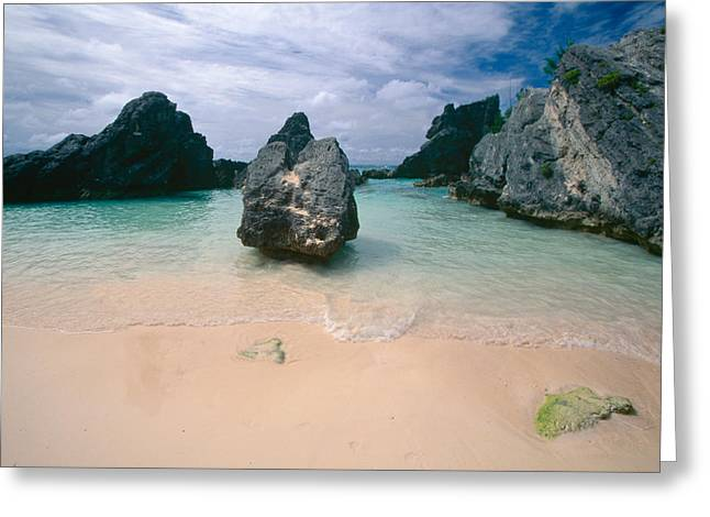 Atlantic Beaches Greeting Cards - Quiet Cove in Horseshoe Bay Bermuda Greeting Card by George Oze
