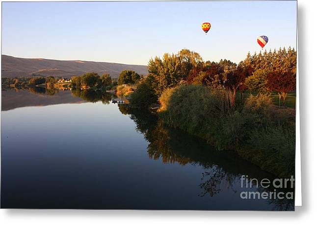Yakima Valley Greeting Cards - Quiet Morning Ride Greeting Card by Carol Groenen