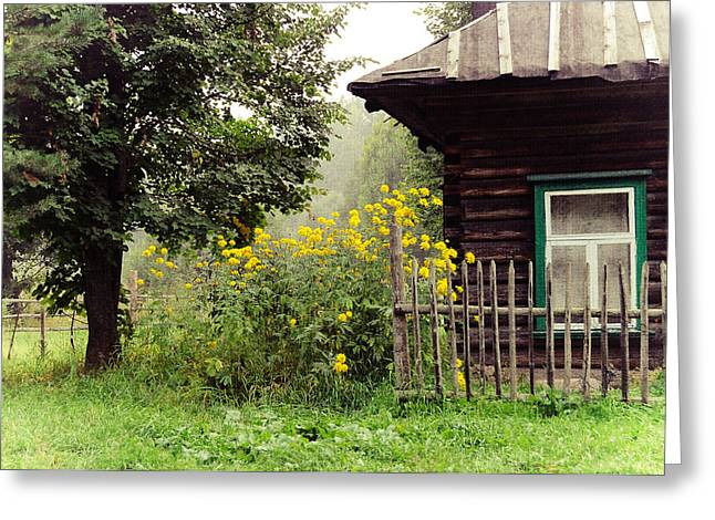 Russian Nature Greeting Cards - Quiet Setting. Rural Russia Greeting Card by Jenny Rainbow
