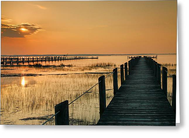 Sunset Prints Greeting Cards - Quiet Time Greeting Card by Steven Ainsworth