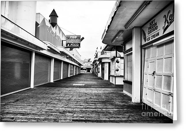 Down The Shore Greeting Cards - Quiet Walk Greeting Card by John Rizzuto
