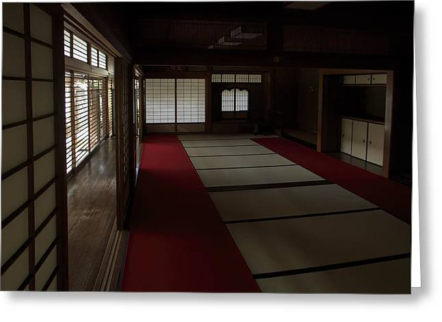 QUIETUDE of ZEN MEDITATION ROOM - KYOTO JAPAN Greeting Card by Daniel Hagerman
