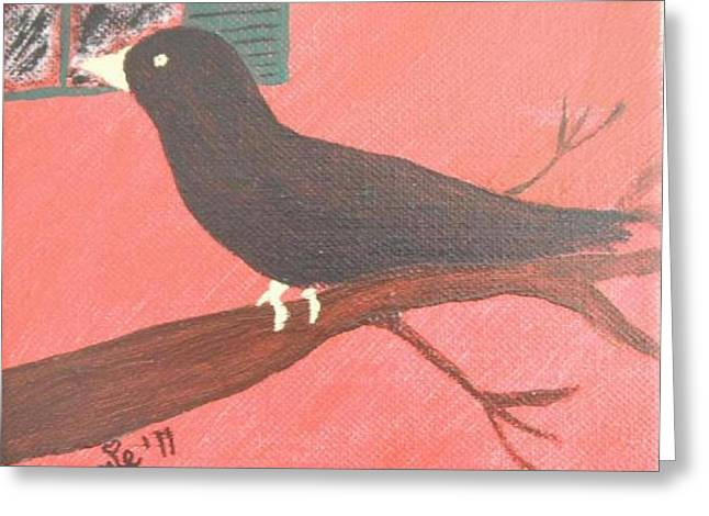 Raven Note Cards Greeting Cards - Quoth the Raven Evermore Greeting Card by Jeannie Atwater Jordan Allen