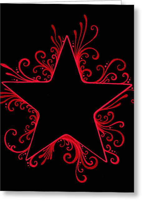 Sharpie Squad Greeting Cards - R and B Star Flair Greeting Card by Mandy Shupp
