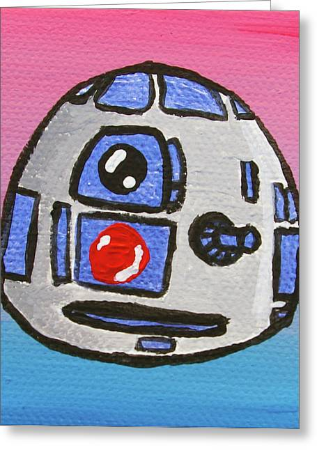 Toon Greeting Cards - R2-d2 Greeting Card by Jera Sky