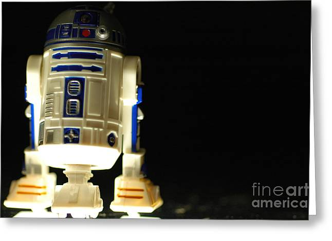 Sidekick Greeting Cards - R2-d2 Greeting Card by Micah May