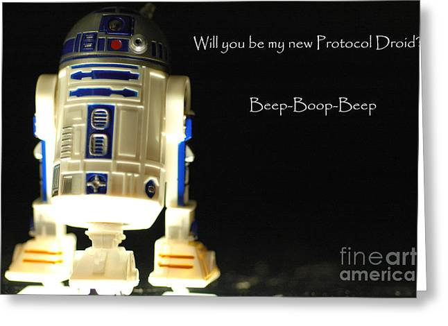 Sidekick Greeting Cards - R2D2 card  Greeting Card by Micah May
