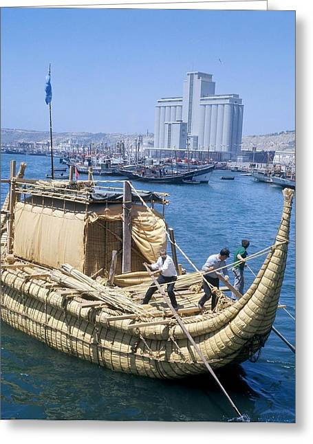 Ras Greeting Cards - Ra-2 Papyrus Boat, Morocco Greeting Card by Ria Novosti