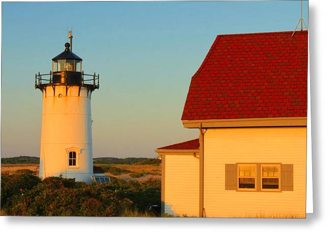 Cape Cod National Seashore Greeting Cards - Race Point Lighthouse Cape Cod Greeting Card by John Burk