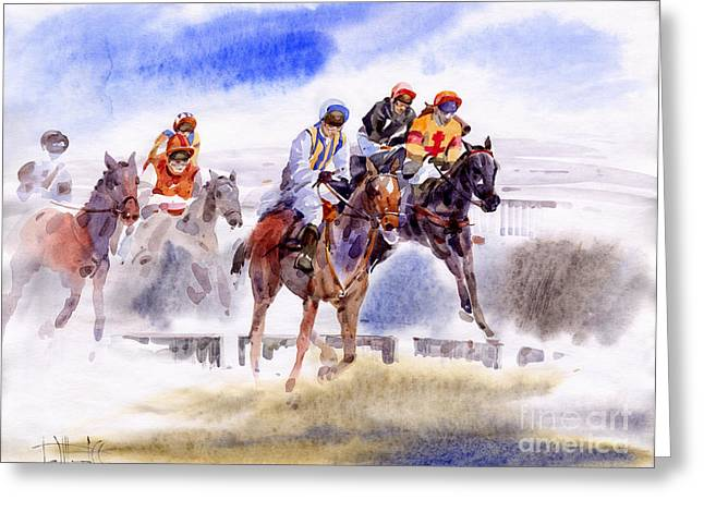 Race Greeting Cards - Races II Greeting Card by Svetlana and Sabir Gadghievs