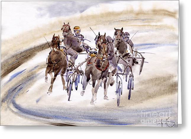 Race Greeting Cards - Races Greeting Card by Svetlana and Sabir Gadghievs