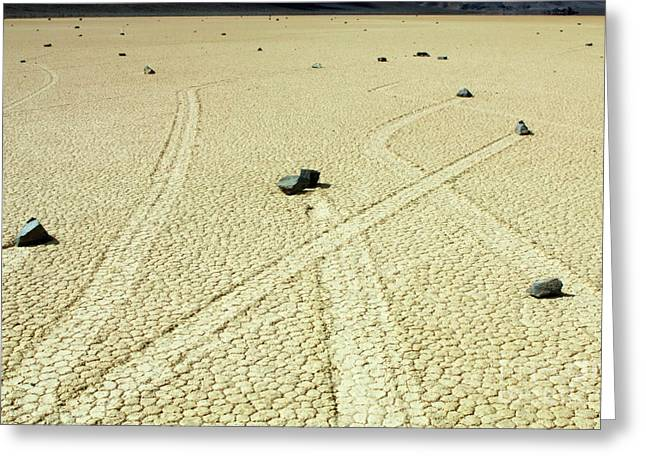 Mountains Of Sand Greeting Cards - Racetrack 4 Greeting Card by Bob Christopher