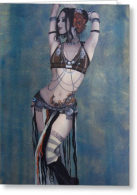 Middle-east Greeting Cards - Rachel Brice - Belly Dancer Greeting Card by Kelly Jade King