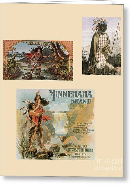American Popular Culture Greeting Cards - Racist Advertisements Featuring Native Greeting Card by Photo Researchers