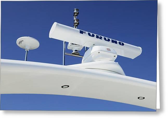 Radar Waves Greeting Cards - Radar On A Cruise Ship Greeting Card by Mark Sykes
