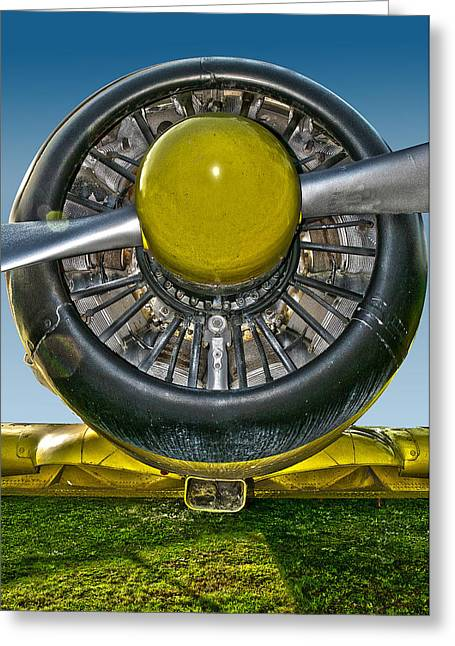Plane Radial Engine Greeting Cards - Radial engine Greeting Card by Alessandro Matarazzo
