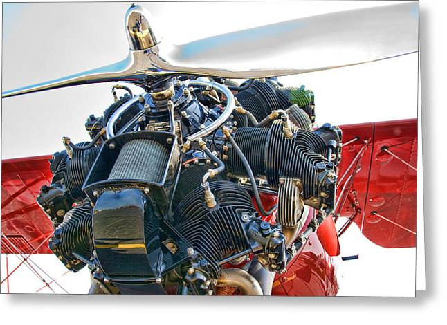 Plane Engine Greeting Cards - Radial  Greeting Card by Steven Richardson