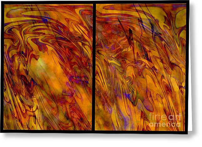 Carol Groenen Abstract Greeting Cards - Radiant and Warm - Abstract Art Greeting Card by Carol Groenen
