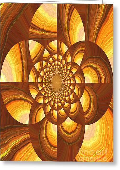 Radiating Warmth And Light Greeting Card by Carol Groenen