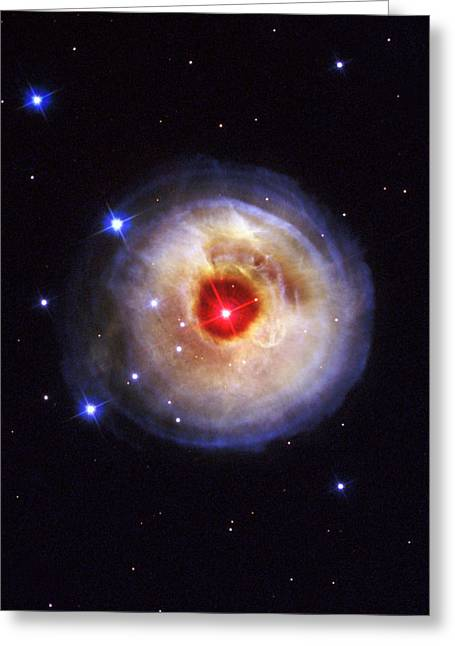 Hubble Space Telescope Views Greeting Cards - Radiation From A Stellar Burst Greeting Card by ESA and nASA