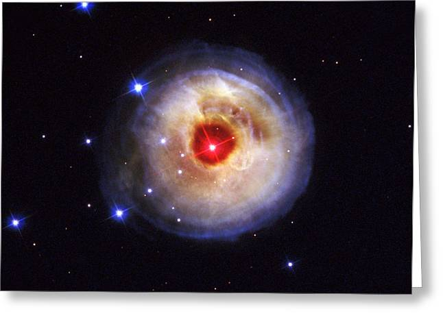 Radiation From A Stellar Burst Greeting Card by ESA and nASA
