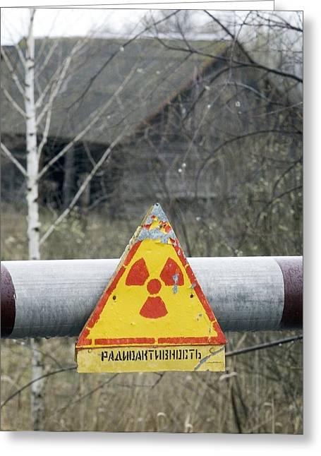 Radiation Warning Sign, Belarus Greeting Card by Ria Novosti