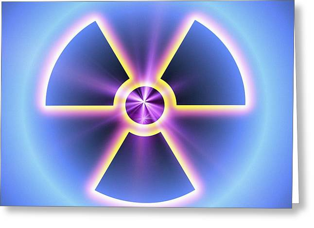 Biohazard Greeting Cards - Radiation Warning Sign Greeting Card by Pasieka