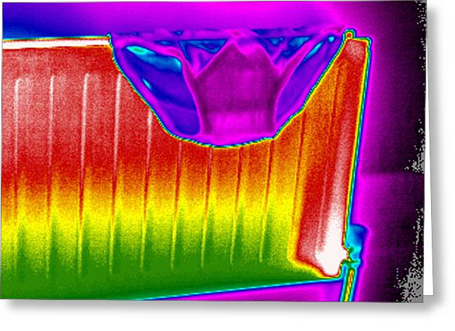 Thermography Greeting Cards - Radiator, Thermogram Greeting Card by Tony Mcconnell