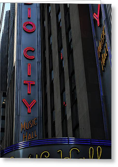 Outdoor Theater Greeting Cards - Radio City Music Hall Cirque du Soleil II Greeting Card by Lee Dos Santos