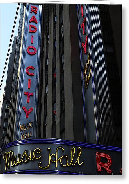 Do Business Greeting Cards - Radio City Music Hall Cirque du Soleil Greeting Card by Lee Dos Santos