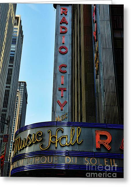Theatre District Greeting Cards - Radio City Music Hall Greeting Card by Paul Ward