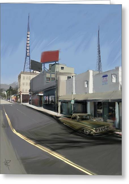 Antenna Mixed Media Greeting Cards - Radio El Camino Greeting Card by Russell Pierce