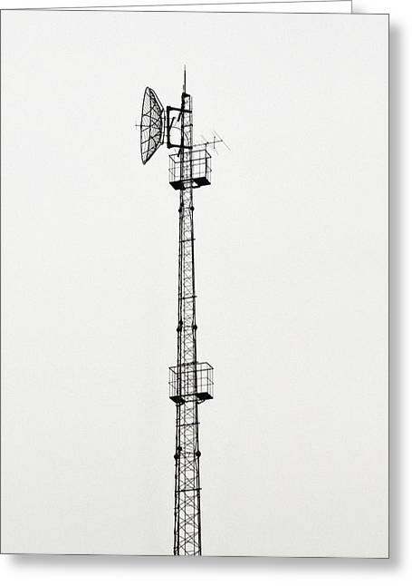 Technological Communication Greeting Cards - Radio Mast Greeting Card by Mehau Kulyk