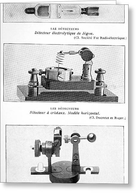 Electrolytic Greeting Cards - Radio Receiver Components, 1914 Greeting Card by