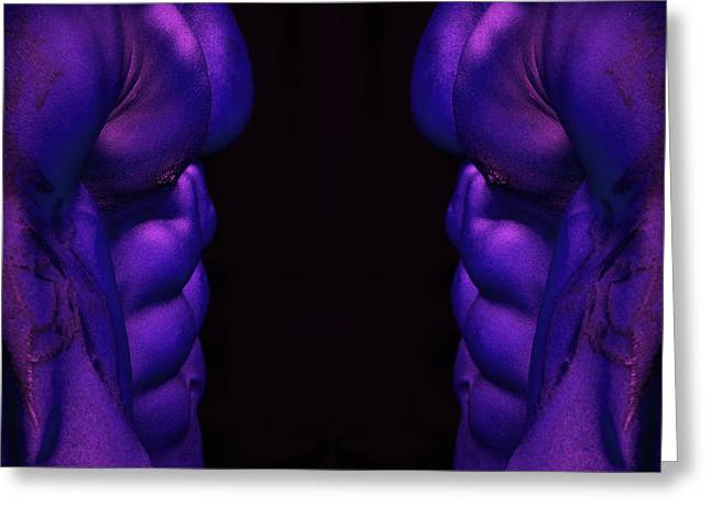 Fitness Model Greeting Cards - Radioactive Twins Greeting Card by Val Black Russian Tourchin