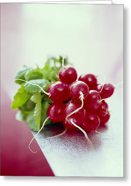 Fresh Radishes Greeting Cards - Radishes Greeting Card by David Munns