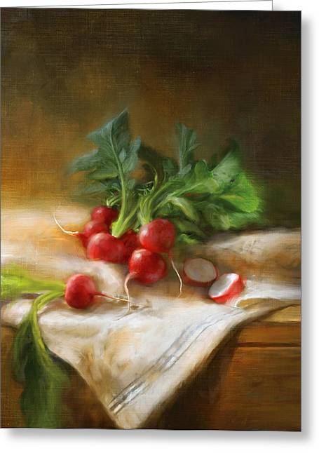 Cooks Illustrated Paintings Greeting Cards - Radishes Greeting Card by Robert Papp