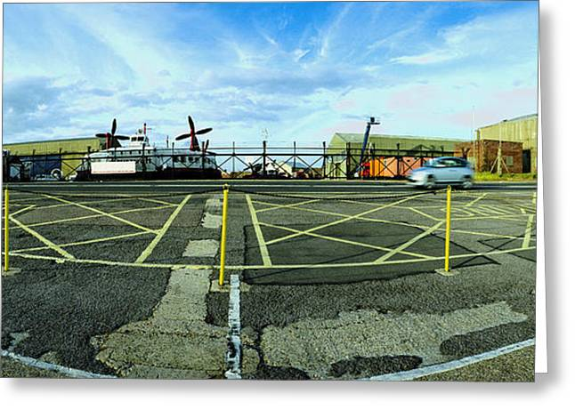 Fighter-bomber Photographs Greeting Cards - RAF Lee-on-the-Solent Hovercaft Greeting Card by Jan Faul