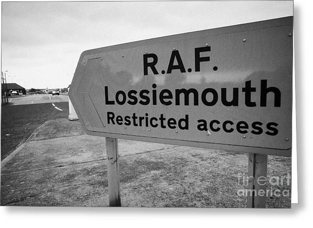 Raf Greeting Cards - RAF Lossiemouth air force base Greeting Card by Joe Fox
