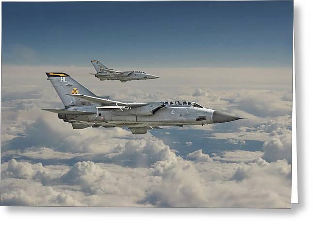 Raf Greeting Cards - RAF Tornado Greeting Card by Pat Speirs