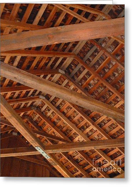 Yachats Greeting Cards - Rafters Greeting Card by Methune Hively