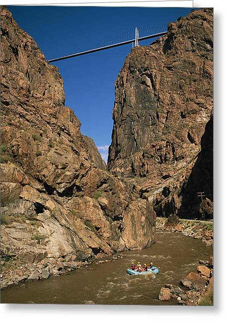 Fissure Greeting Cards - Rafting On The Arkansas River Greeting Card by Richard Nowitz