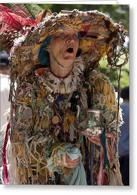 Rag Lady Greeting Cards - Rag Lady Begging Greeting Card by Charles Warren